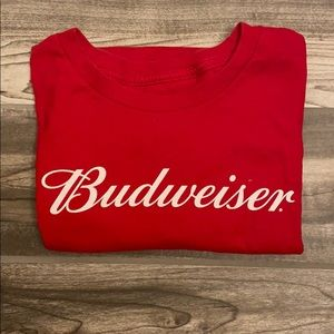 Men's Budweiser Red Size Large Hanes T-shirt